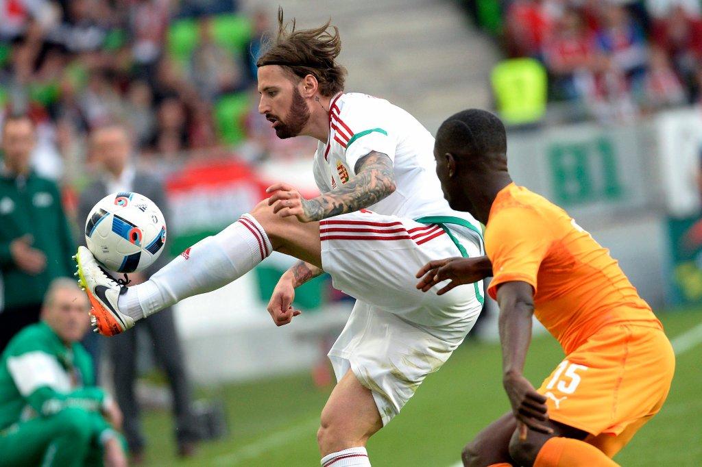 Tamas Kadar w meczu z Wybrzeżem Kości Słoniowej
