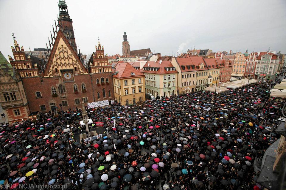 3 października 2016, Czarny Marsz we Wrocławiu