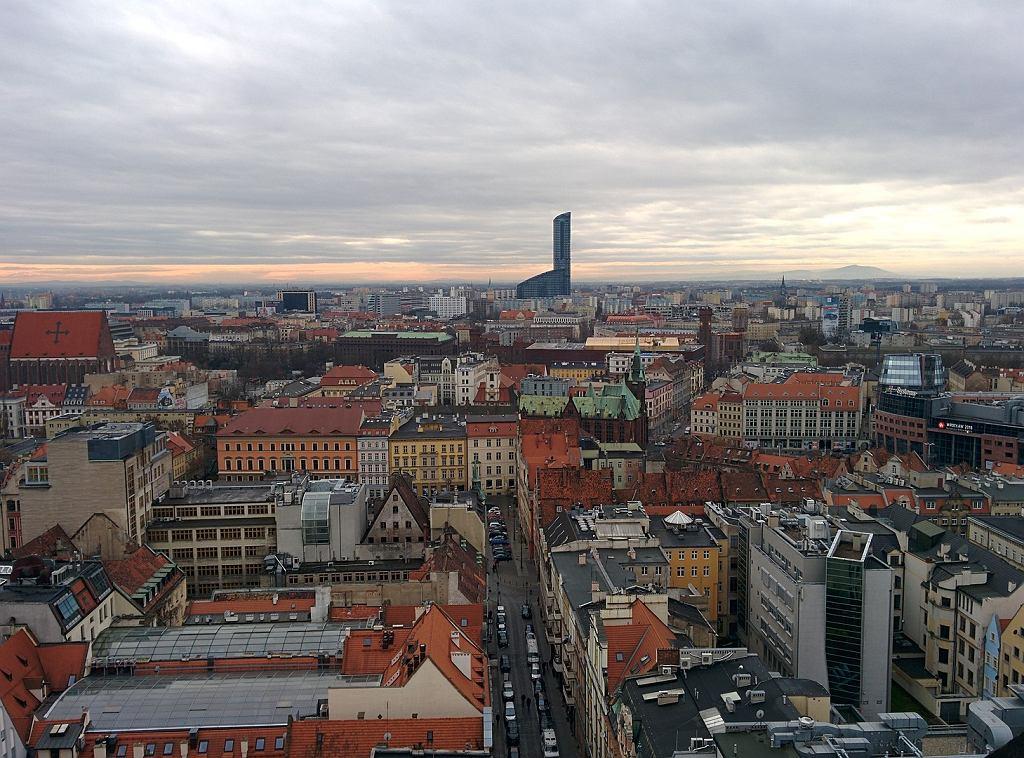 Widok z wieży widokowej na Wrocław