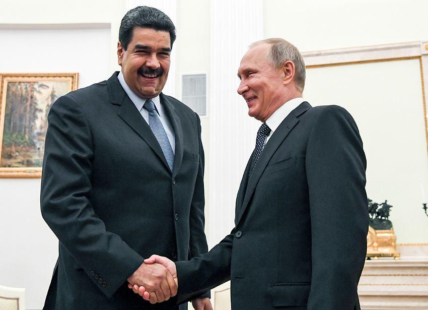 Prezydent Wenezueli Nicolas Maduro i prezydent Rosji Władimir Putin