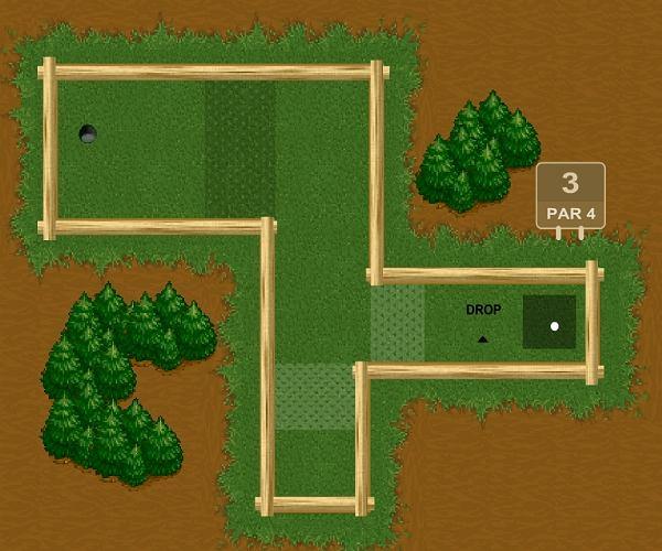 Leśny mini golf