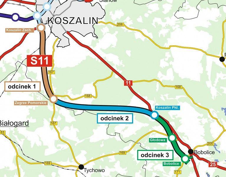 Droga S11 Koszalin-Bobolice