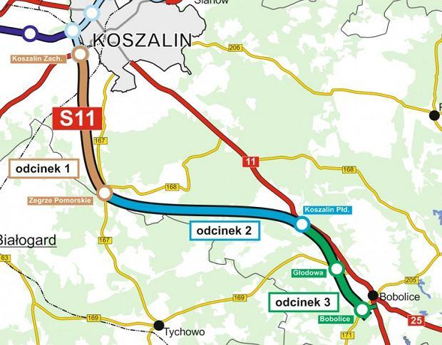 Droga S11 Koszalin-Bobolice. Już niedługo powstanie 50 km ważnej drogi