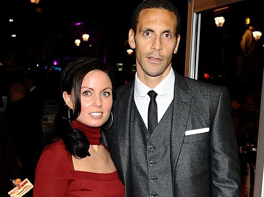 Rio Ferdinand i Rebecca Ellison w 2009 roku
