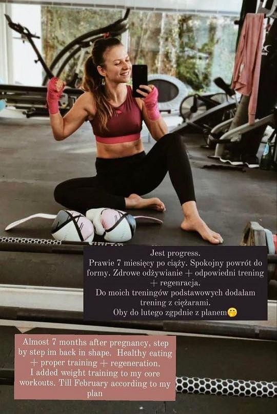 Anna Lewandowska wie jak szybko wrócić do formy po ciąży.
