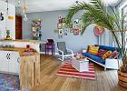 Kolorowe mieszkanie w Warszawie z odrobiną egzotyki