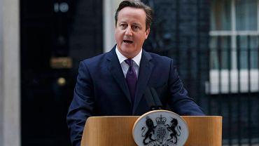 Premier David Cameron. Jego rząd nie chce przystać na finansowe żądania Polski, Czech i Słowacji