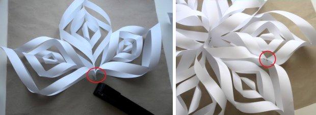Gwiazda betlejemska z papieru 3D, łączenie ramion gwiazdy, ozdoba świąteczna dekoracja, święta.
