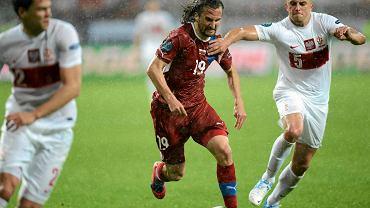 Dariusz Dudka (z prawej) w meczu Polska - Czechy na Euro 2012