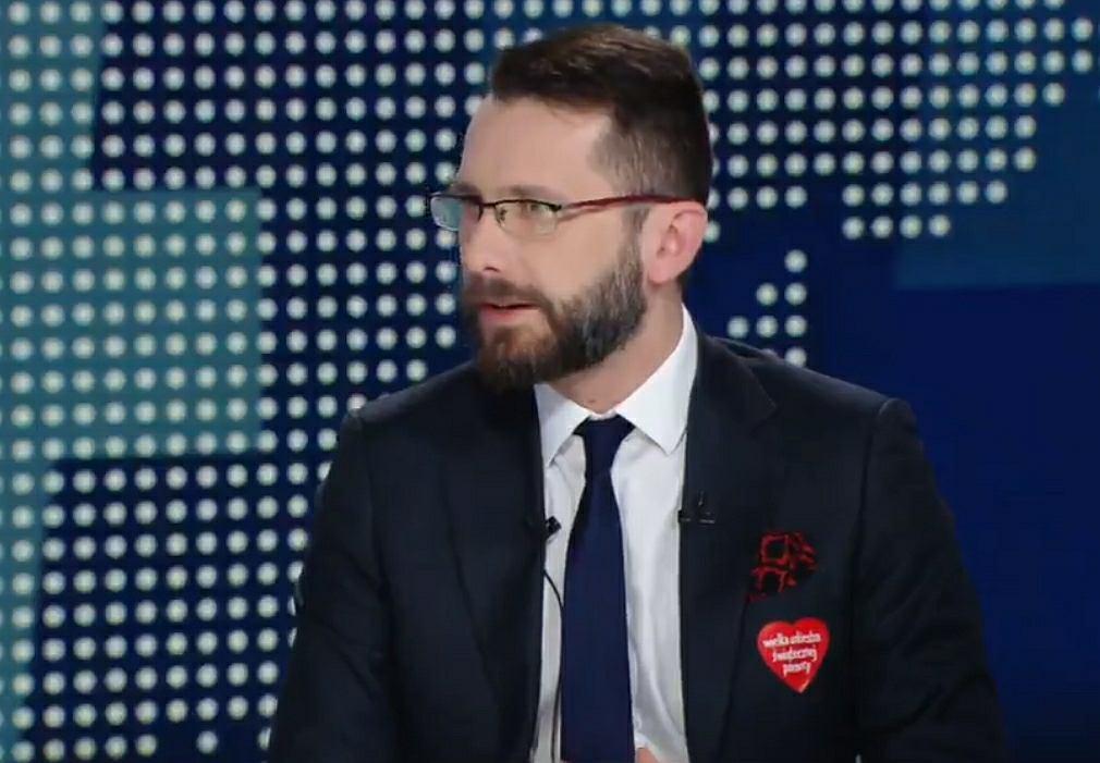 Wicerzecznik PiS Radosław Fogiel w Polsat News