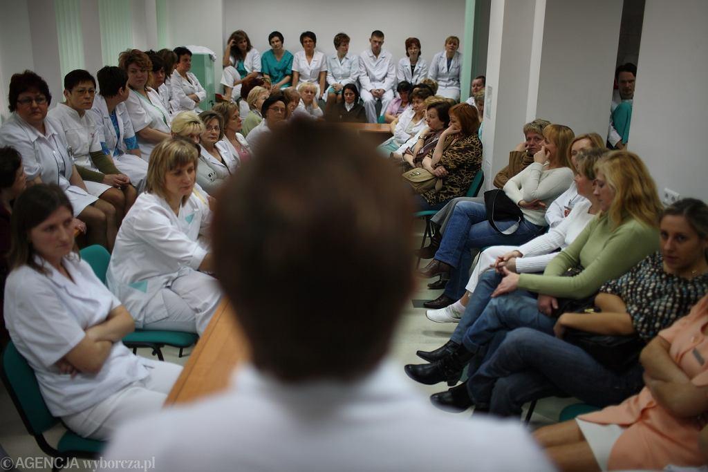 Protest pielęgniarek w Białymstoku