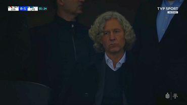 Dariusz Mioduski po golu dla Lecha
