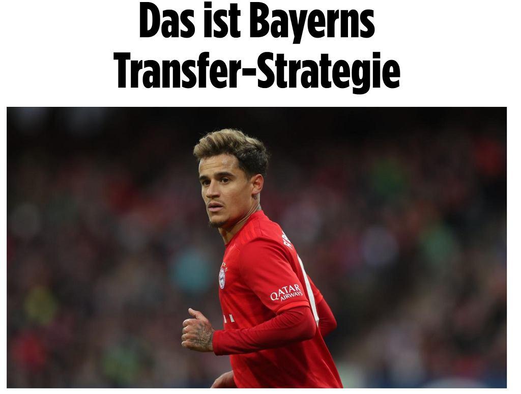 Bayern szykuje kadrową rewolucję! Władze klubu podjęły decyzję dotyczącą Coutinho