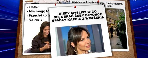 Kinga Rusin w 'Wiadomościach'