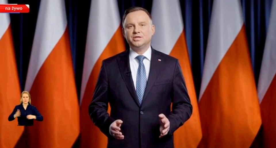 Orędzie prezydenta Andrzeja Dudy w sprawie epidemii koronawirusa.