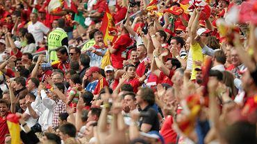 Kibice z Hiszpanii na stadionie PGE Arena