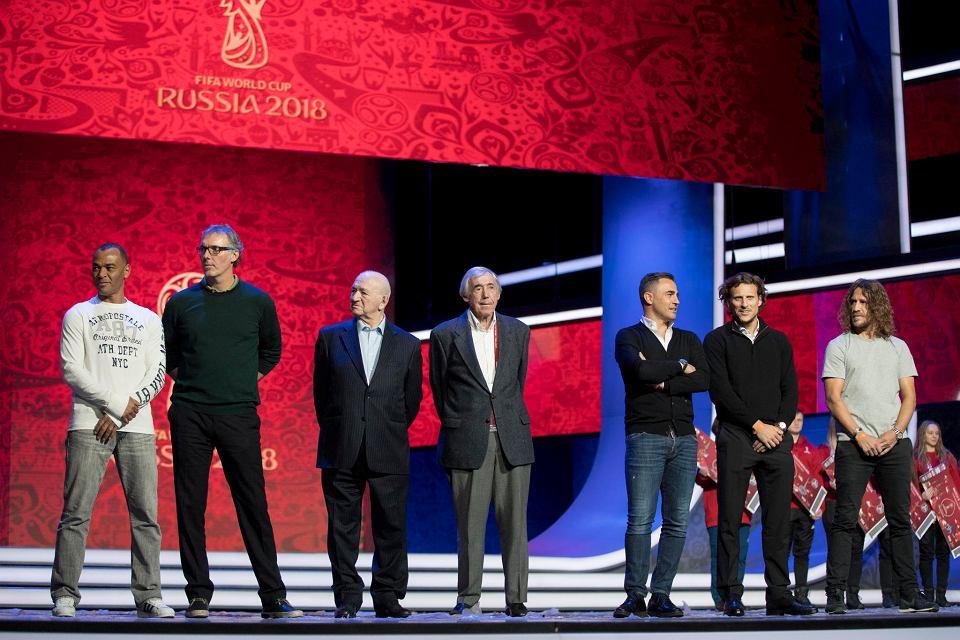 Gordon Banks (w środku) podczas mistrzostw świata w 2018 roku