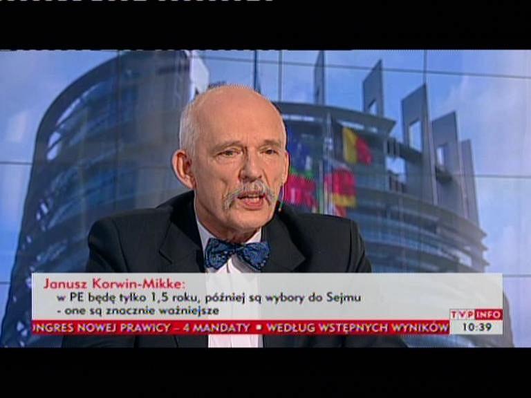 Janusz Korwin-Mikke w TVP Info