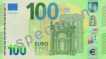 Nowy banknot 100 euro
