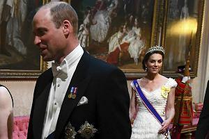 Książę William i księżna Kate na bankiecie u królowej Elżbiety II
