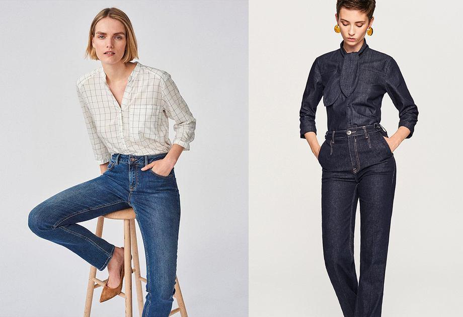 Klasyczne jeansy z prostą nogawką