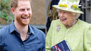 Książę Harry, królowa Elżbieta