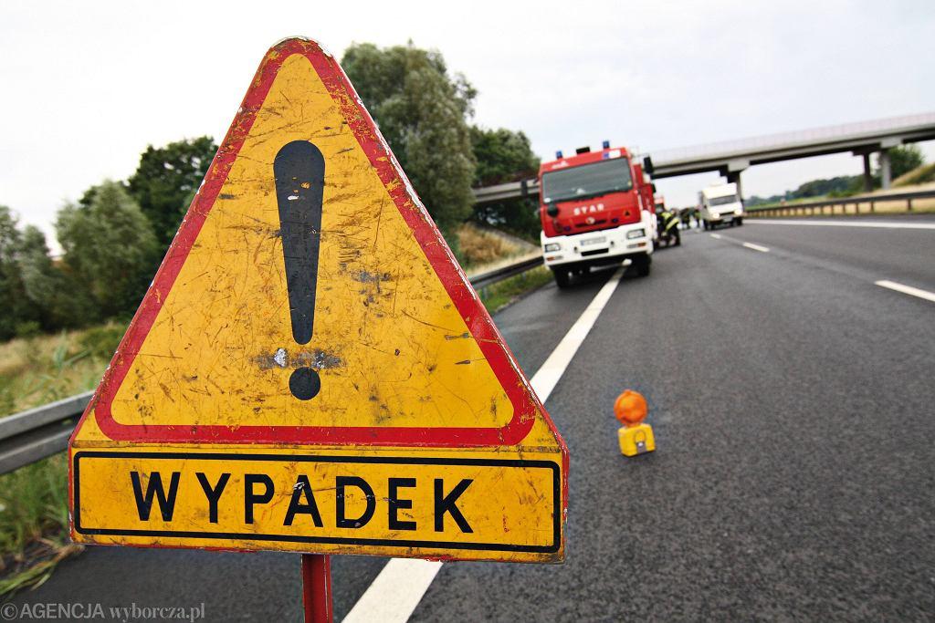 Znak oznaczający wypadek