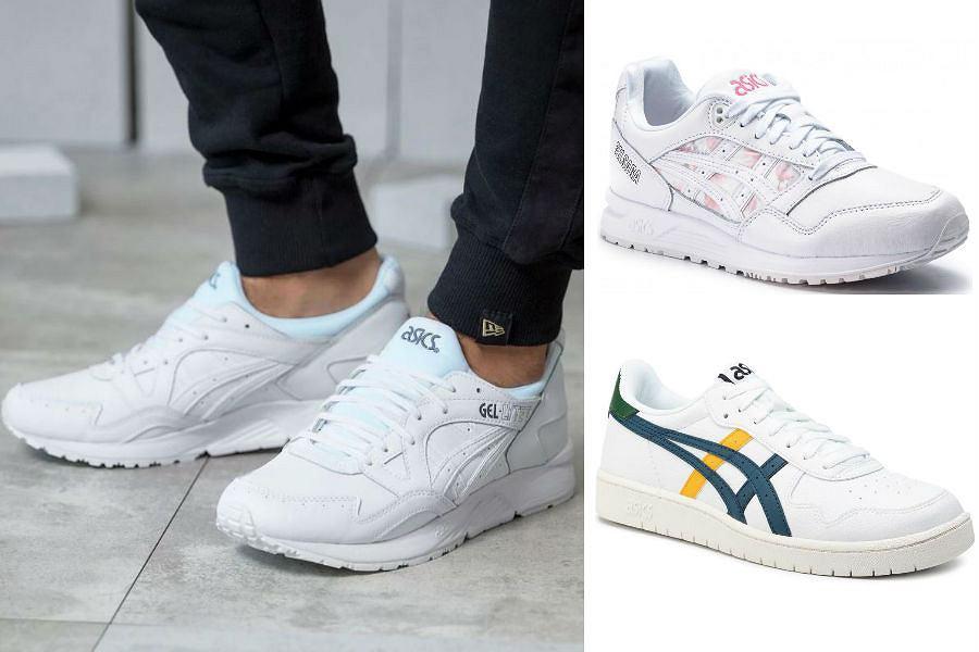 Białe sneakersy ASICS wpisują się w obecnie popularny trend na białe buty