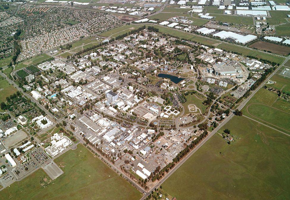 Widok z lotu ptaka na Lawrence Livermore National Laboratory