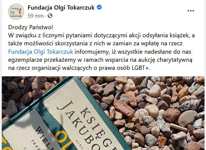 Fundacja Olgi Tokarczyk reaguje