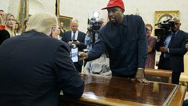 USA. Kanye West u Donalda Trumpa w Białym Domu