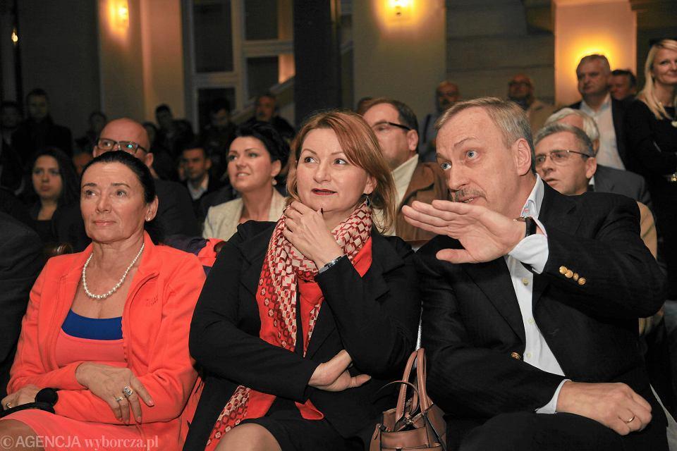 Wybory parlamentarne 2019. Na zdj. Alicja Chybicka, Barbara Zdrojewska i Bogdan Zdrojewski