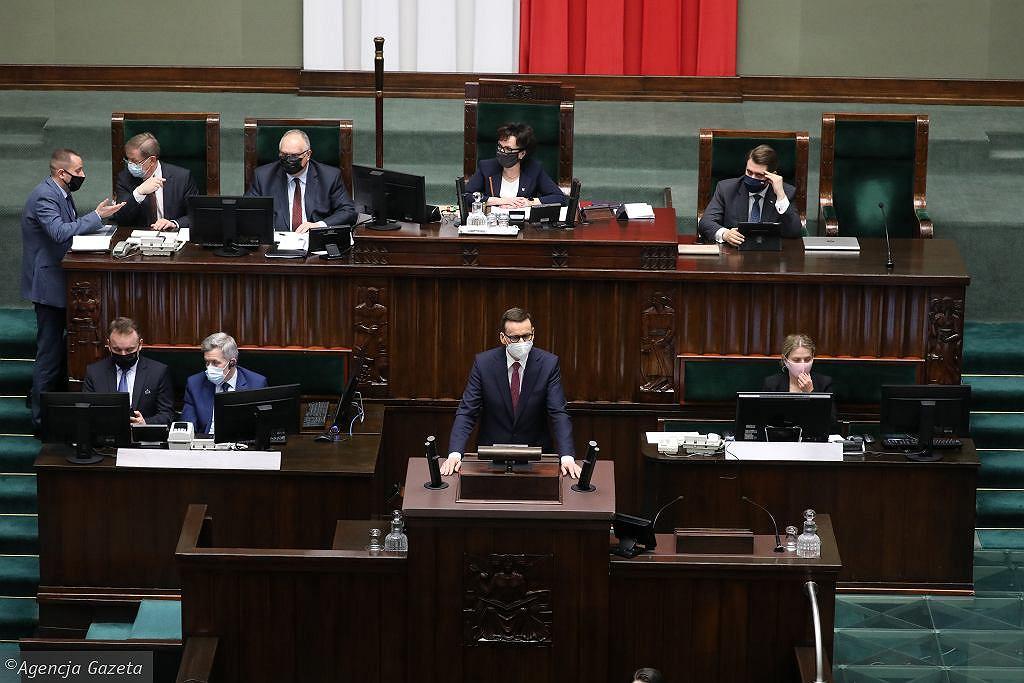 Premier Mateusz Morawiecki w Sejmie (zdj. archiwalne)