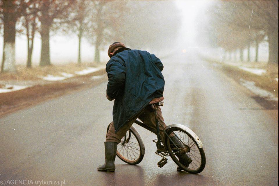 6.01.1998, pijany rowerzysta na szosie Warszawa - Siedlce.