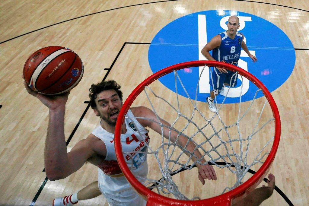 Pau Gasol w meczu z Grecją