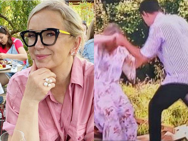 W programach nadawanych na żywo regularnie dochodzi do zabawnych sytuacji. W ostatnim odcinku ''Pytania na śniadanie'' Marzena Rogalska... utknęła w hamaku.