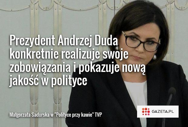 Małgorzata Sadurska w 'Polityce przy kawie'