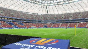 Lech Poznań trenuje na Stadionie Narodowym przed finałem Pucharu Polski