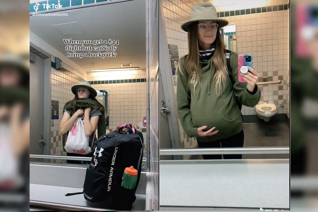 Tiktokerka udawała ciążę, żeby wnieść dodatkowy bagaż na pokład samolotu