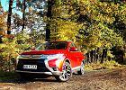 Mitsubishi Outlander i pocztówka z jesieni