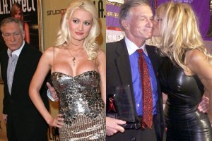 Hugh Hefner z Holly Madison i z Pamelą Anderson