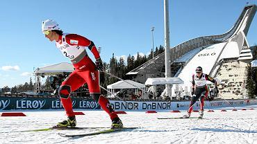 Oslo - skocznia Holmenkollbakken (Holmenkollem) w tle biegu na 30 km podczas mistrzostw świata w narciarstwie klasycznym, w którym Justyna Kowalczyk walczyła z Marit Bjoergen (5 marca 2011)