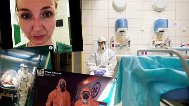 Medycy pokazują Jackowi Sasinowi swoje zaangażowanie w walkę z koronawirusem