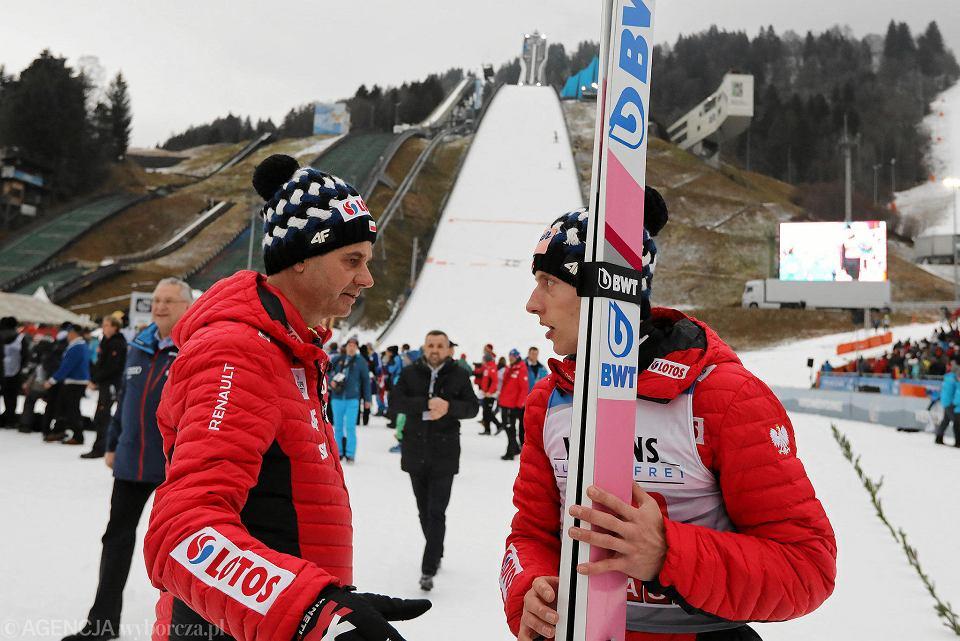 Stefan Horngacher i Dawid Kubacki