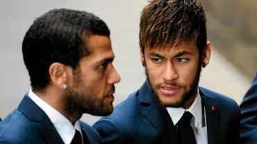 Dani Alves i Neymar na pogrzebie Tito Vilanovy