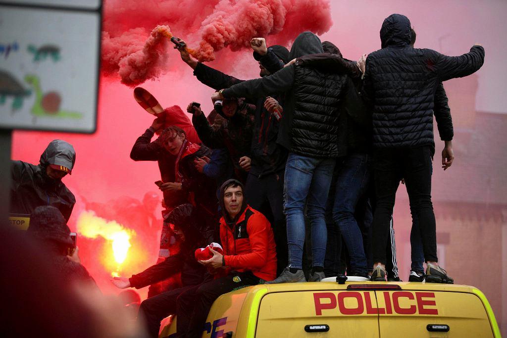 Kibice przed meczem Liverpool FC - AS Roma