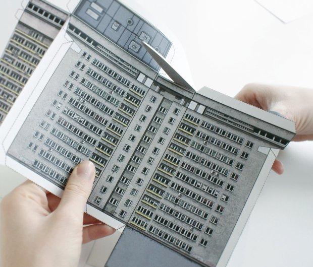 Zupagrafika - papierowe modele warszawskich blokowisk