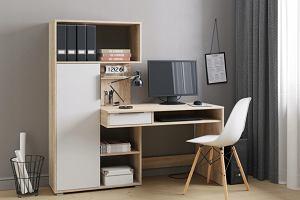 Biurko z regałem na książki - praktyczny mebel do małych pomieszczeń