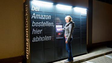 Paczkomat Amazona w Augsburgu w Niemczech.