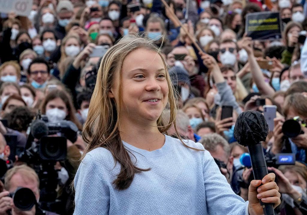 Berlin - Greta Thunberg podczas protestu klimatycznego